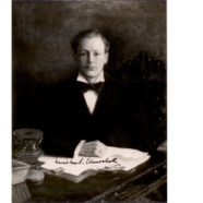 Signed Photograph of Winston Churchill ~1900