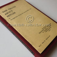 THE TRUTH ABOUT HITLER by Winston Churchill – Pamphlet 1936