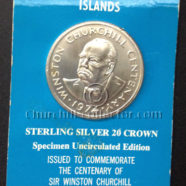 FOR SALE: Churchill Centenary Turks & Caicos 20 Crowns Sterling Silver Coin