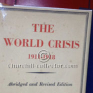 The World Crisis – Signed by the Author, Winston Churchill
