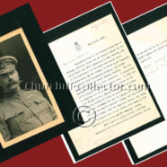 Churchill Signed Letter to Kitchener + Signed Photo of Kitchener