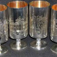 Silverware – Churchill Centenary Jug & Goblets – by Garrads