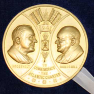 Gold Medallion – Gold Medal with a Portrait of Churchill